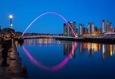 Jahrtausendbrücke Newcastle Stockbilder