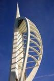 Jahrtausendspinnaker-Kontrollturm in Portsmouth Lizenzfreies Stockbild