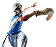 Jai Alai pelota rCesta Punta gracza Baskijski mężczyzna odizolowywał silhouet obrazy stock