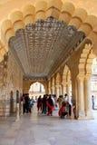 Jai Mandir Mirror Palace en Amber Fort, Ràjasthàn, Inde Photographie stock
