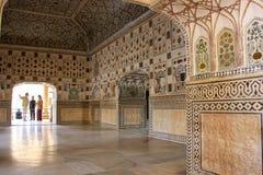 Jai Mandir Mirror Palace en Amber Fort, Ràjasthàn, Inde Photo stock