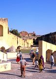 Jai Singhs Observatory, Jaipur fotografie stock libere da diritti