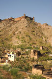 Jaigarh Fort from Amber palace, Jaipur, India. Stock Images
