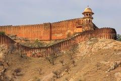 Jaigarh-Fort auf die Oberseite des Hügels von Eagles nahe Jaipur, Rajasthan Stockbild