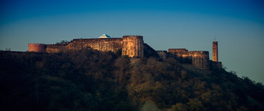 Jaigarh fort, jaipur (rajasthan - india). Panorama of jaigarh fort, rajasthan-india, on Aravali hill range Royalty Free Stock Photography
