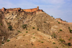 Jaigarh Fort on the top of Hill of Eagles near Jaipur, Rajasthan Stock Image
