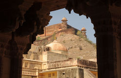 Jaigarhfort van Amberpaleis, Jaipur, India Stock Foto