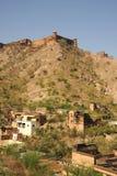 Jaigarhfort van Amberpaleis, Jaipur, India Stock Afbeeldingen