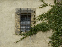 Jail. Old window on a castle in prague Royalty Free Stock Photography