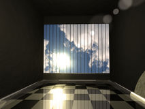 The jail. 3d photo realistic room. Many metaphorical uses Stock Photo
