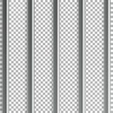 Jail Bars Vector Illustration. Isolated On Transparent Background. 3D Iron Or Steel Prison House Grid Illustration Stock Image