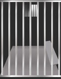 Jail Cell. Prison cell illustration Royalty Free Stock Image
