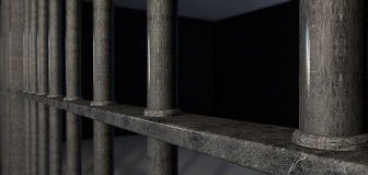 Jail Cell Bars Extreme Closeup Royalty Free Stock Photo