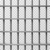 Jail cell bars isolated. Prison vector background. Illustration of prison cage metal Stock Images