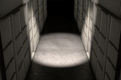 Jail Cell Corridor Top Royalty Free Stock Images