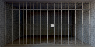 Jail Cell Full View Closed Stock Images