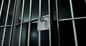 Jail Cell With Open Door Stock Photography