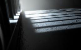 Jail Cell Shadows Stock Photos