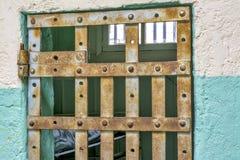 Jail Cell Through The Bars Stock Photos