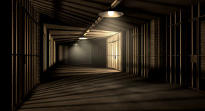 Jail Corridor And Cells Stock Images