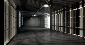 Jail Corridor And Cells Stock Photography