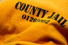 Jail - County Jail Inmate Uniform Stock Photography