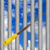 Jail escape Royalty Free Stock Photography