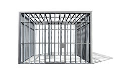 Jail Holding Cell Isolated Front Royalty Free Stock Image