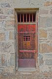 Jail House Door. The old jail house door in Cimarron, New Mexico is pretty sturdy Royalty Free Stock Photography
