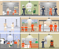 Jail interior set. Stock Images
