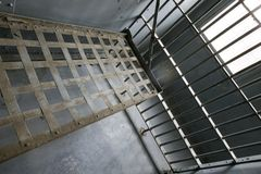 Jail pattern. Jail cell in old abandoned jail in Arizona Stock Photos