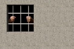 Jail. Prisoner in jail 3D illustration Stock Photo