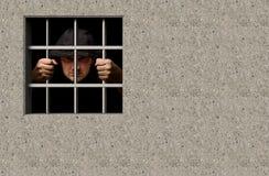 Jail. Prisoner in jail 3D illustration Stock Images
