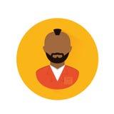 jail prisoner with dark skin icon image Stock Photography
