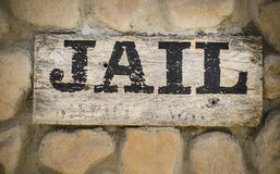 Jail sign Stock Photography