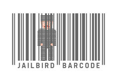 Jailbird barcode Royalty Free Stock Photography