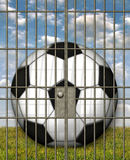 Jailed Soccer Ball Royalty Free Stock Photos