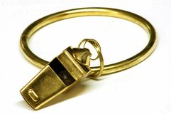 Jailer's whistle royalty free stock images