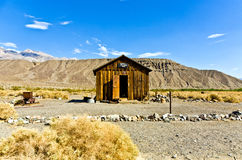 Jailhouse of Ballarat. A ghost town in Inyo County, California that was founded in 1896 as a supply point for the mines in the canyons of the Panamint Range Stock Photos