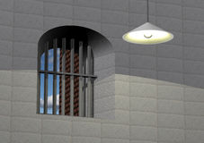 Jailhouse view Stock Photography