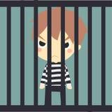 jaill的逗人喜爱的囚犯 皇族释放例证