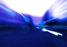 Jaillissements bleus Images libres de droits