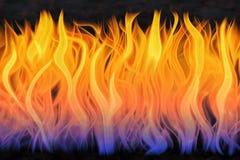 Jaillissements de flamme Photographie stock