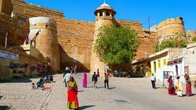 Jailsalmer fort, Rajastan, Indien Arkivbild