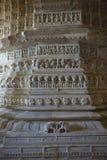 Jain висок в Ranakpur, Индии, Раджастхане Chaumukha Mandir она стоковые изображения rf