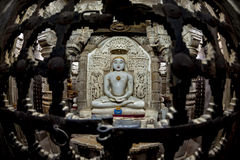 Jain buddha statue in jaisalmer, india Royalty Free Stock Photo
