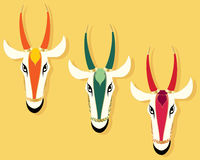 Jain cow heads Stock Photography