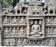 Ancient Jain Deity Central India Stock Images