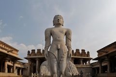 Jain god Gomeshvara in Shravanabelagola, India Stock Photo