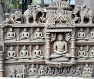 Jain gudcentral Indien Arkivbilder